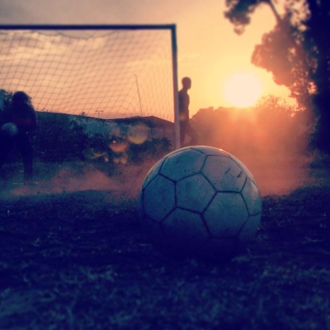 Sunset soccer, Zanzibar