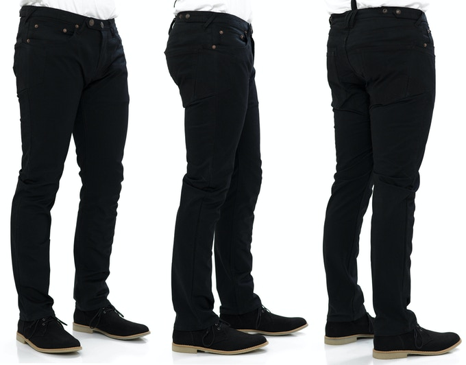 Traffic Jean in Black Cavalry Twill - Slim Cut Fit