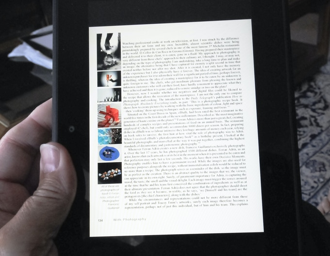 Showing a full page of 'With Photography' on  7ins x 5ins an e-reader