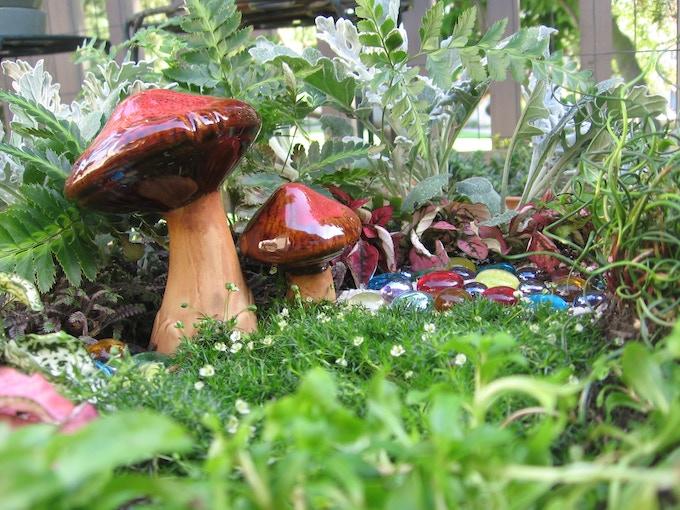 I still had to include a fairy garden...