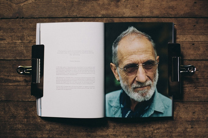 We even managed to get the awesome Frank Serpico into the first issue.. Captured by the wonderful New York based photographer Jason Campbell