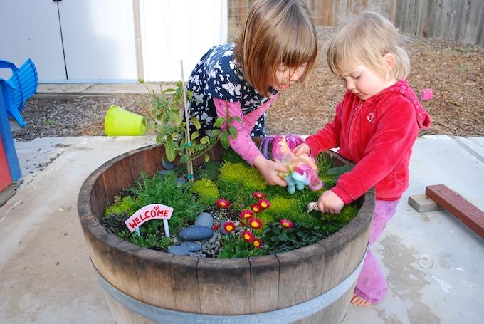 Tiny gardeners love to garden too!