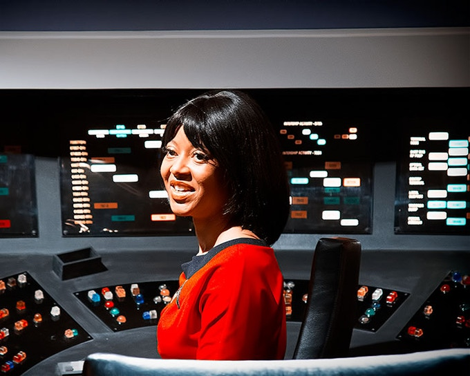 Lt. Uhura at her station