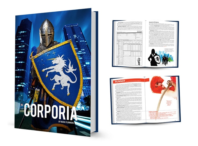A prototype image of the Corporia RPG - already 95% complete!