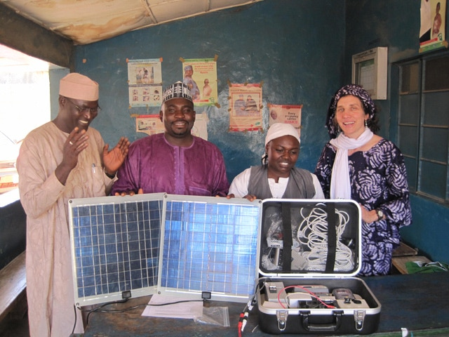 A Solar Suitcase at work (Photo: WE CARE Solar)