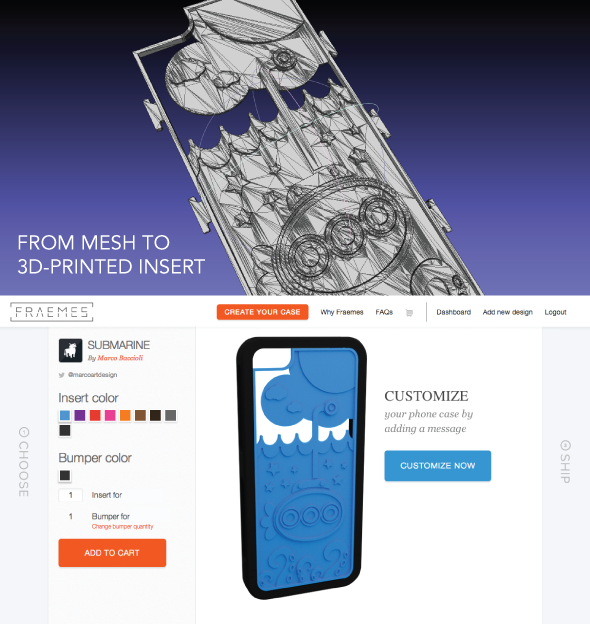Fraemes: Personalizable, Swappable, 3D-printed IPhone