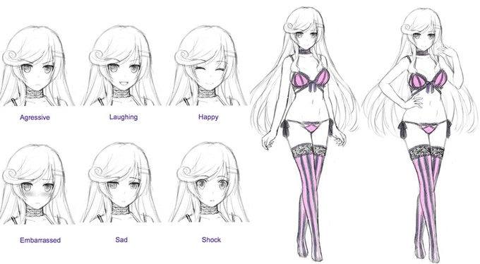 Concept Sketches for New Character 'Sen'