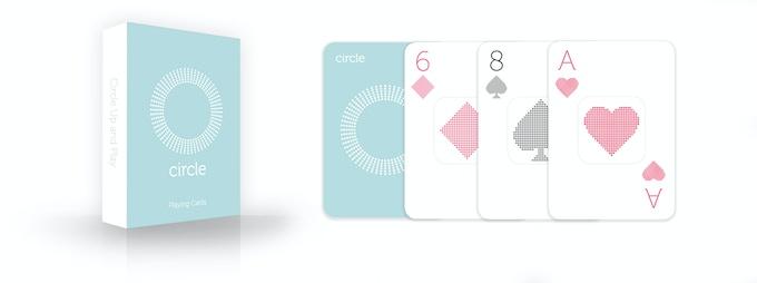 "New Reward: Custom-designed, ""Circle"" branded Deck of Cards"