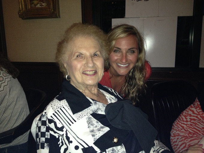 Grandmom and me, April 2013