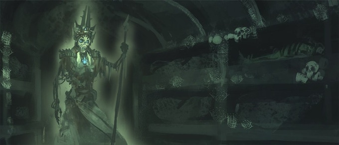 Dark passages lurk beneath the castle -- images of maps coming this week!