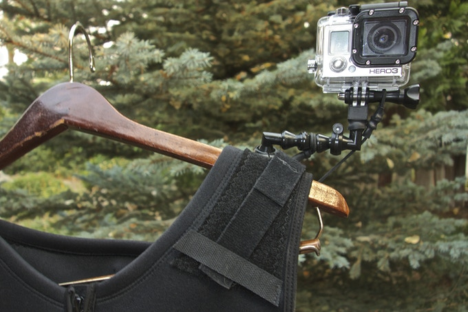 Adjustable Velcro straps on both sides of vest for maximum camera stability