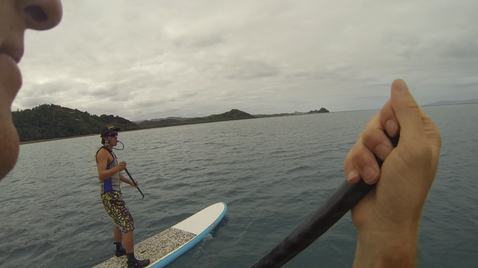 The GoVest™  view of the test team Stand Up Paddle Boarding in Fiji
