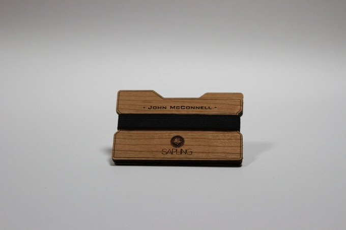 Sapling Signature Series. Custom engraved name on Cherrywood.