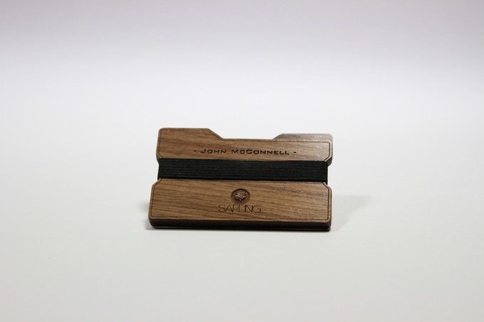 Sapling Signature Series. Custom engraved name on Walnut.