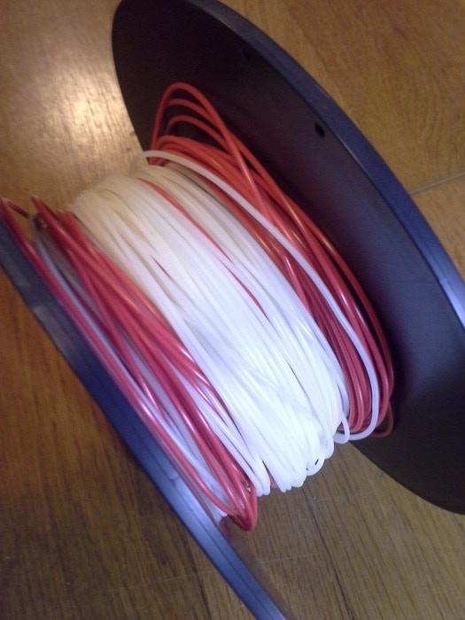 Our filament (white) vs. major brand name filament (red)