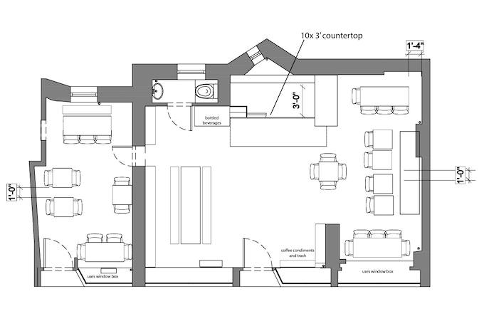 Floorplan of 230 Thompson Street