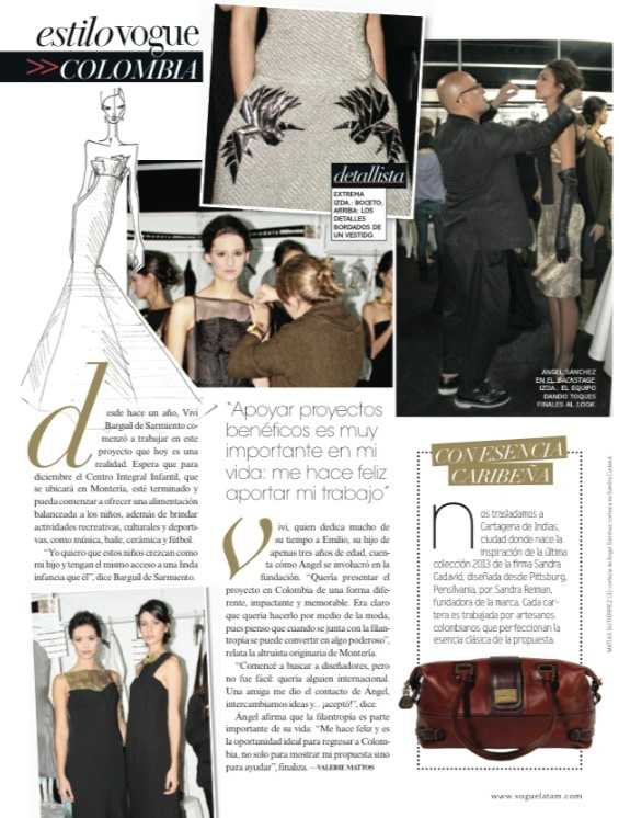 bd79f81034 The Isabella medicine handbag by Sandra Cadavid featured in the September  2013 issue of VOGUE South