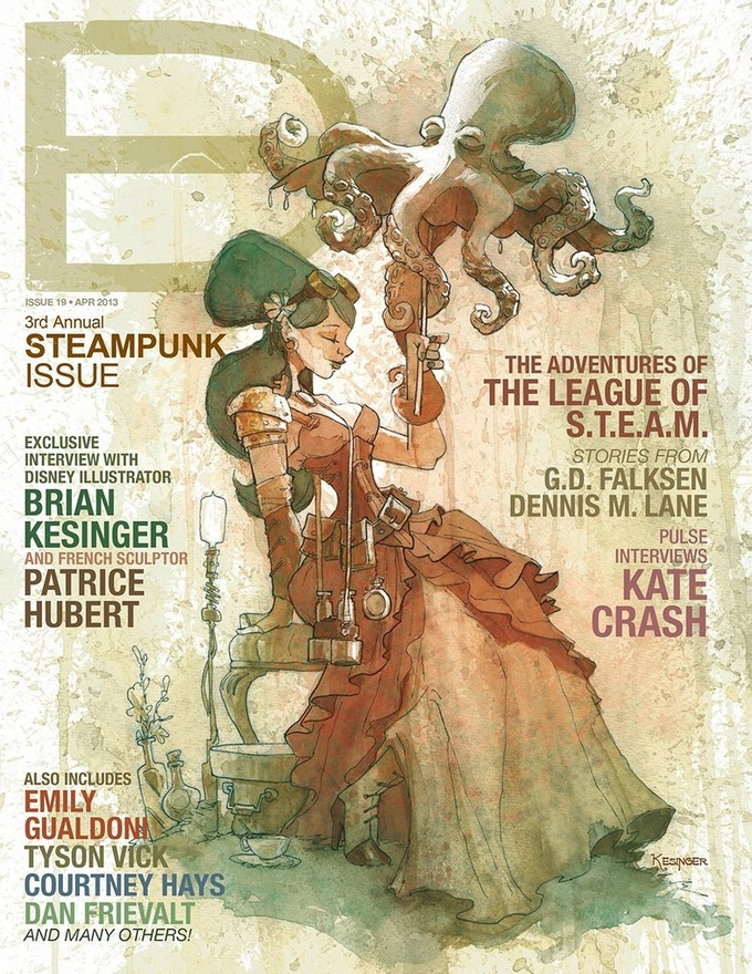 At the $50 backer level we are offering the 2013 Steampunk Issue of Dark Beauty