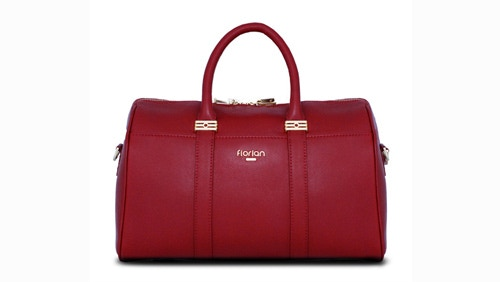 Iconic Faith - W35 x H23 x D20cm - Handle Drop 14cm (Detachable Shoulder Strap 28cm to max 40cm) - Calf Skin - Available in Rose Red/Aubergine