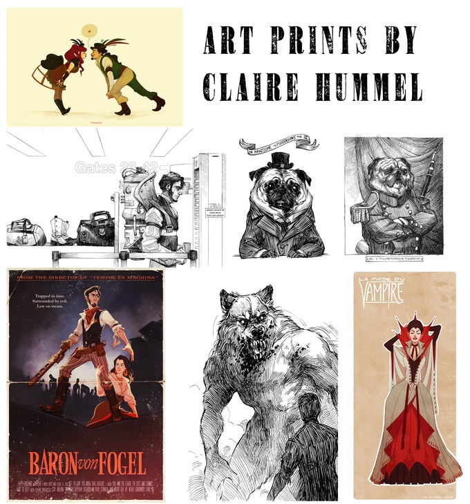 At the $85 reward level, you will have access to one print from the famous Claire Hummel