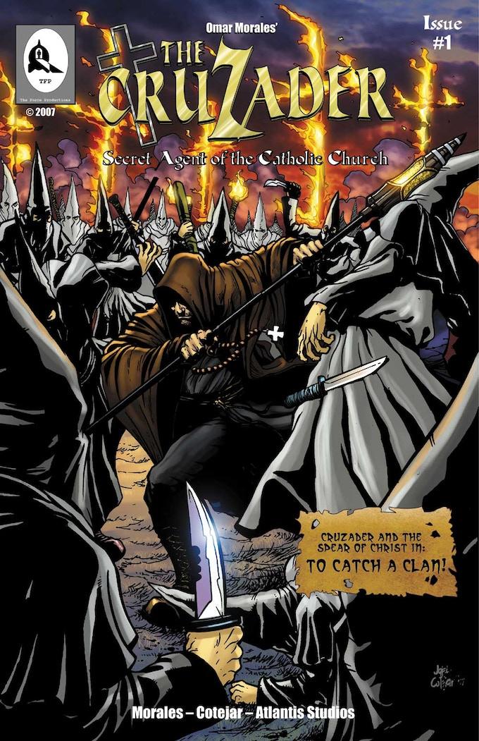 The original cover of CruZader #1, printed & sold @ WonderCon '08