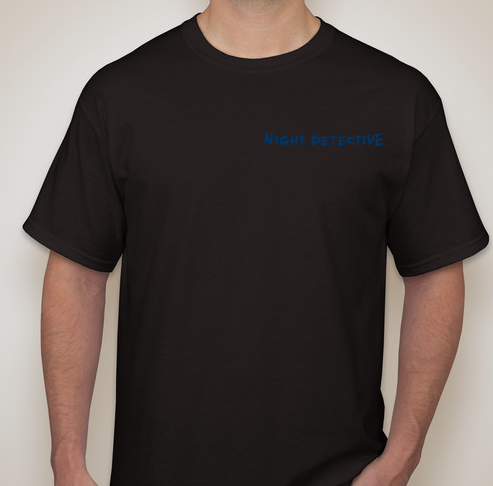 Front Sample of a Night Detective Shirt
