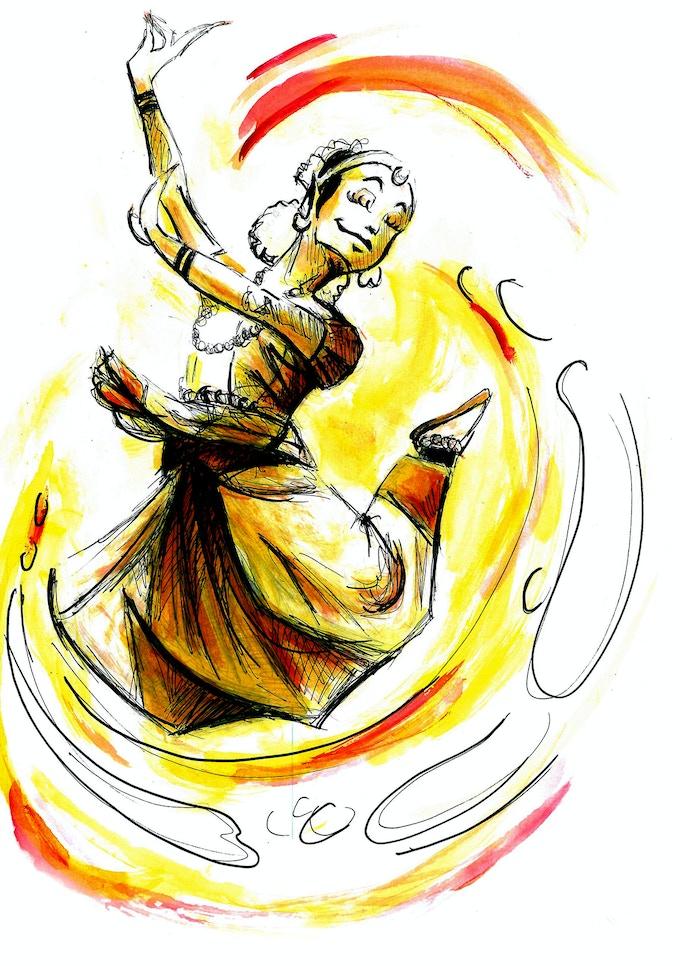 illustrator's (Frank Lunar) portrayal of Sonali