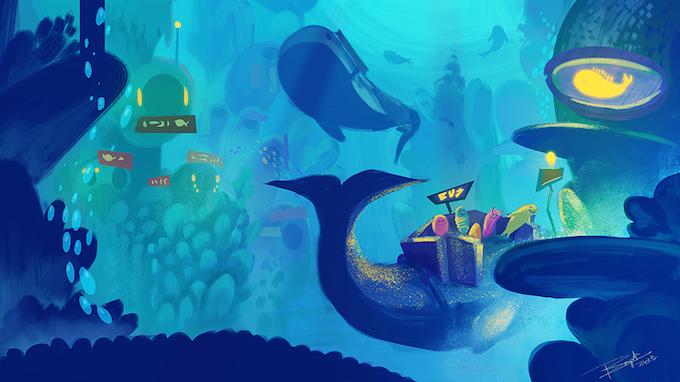 Underwater Whale Bus!