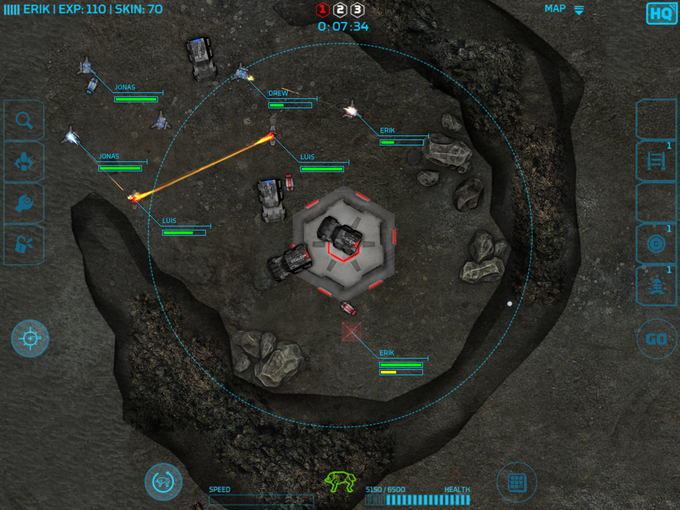 Image of current gameplay.