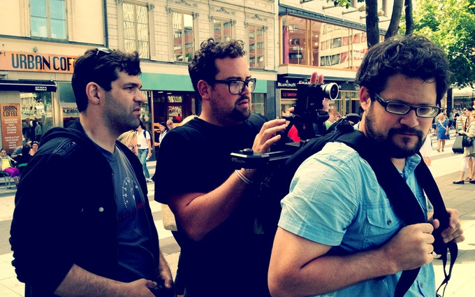 @filmicpro, @cinemek and @mkoerbel on the streets of Stockholm testing out an ambitious camera set up...
