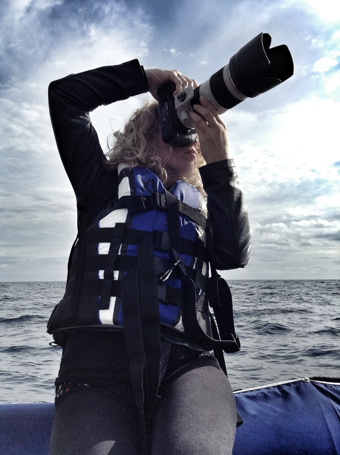 Social Media Director, Pro Photographer and creativeLIVE host @susanroderick breaks out the big glass for some stunning shots of the ship!