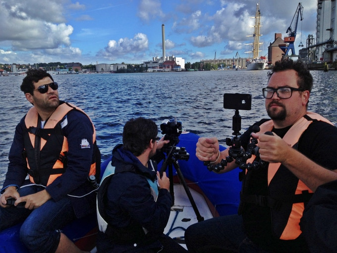 The FiLMiC Pro Content Team having a ball on the open water in Flensburg, Germany!