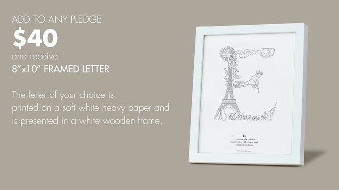 "Add $40 to any Reward to add additional 8""x10"" Framed Prints ($40 per add'l framed letter)."