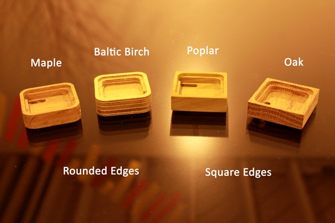Choose one of the wood materials and shape for the base, too!!