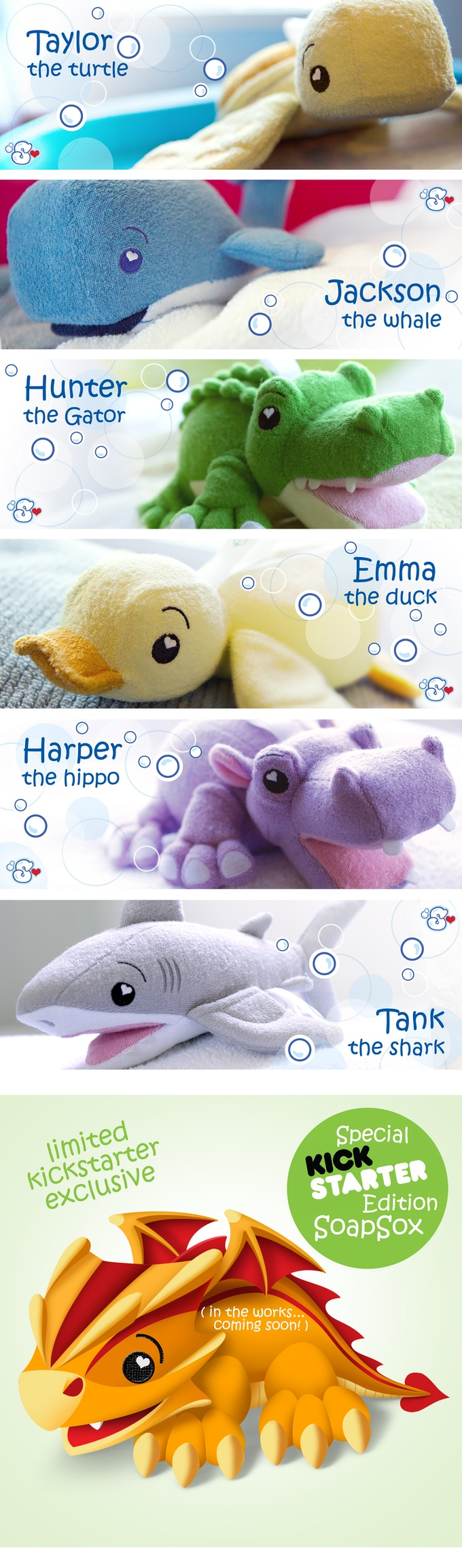 Meet THE FRESHMEN 6 ... and our exclusive SPECIAL KICKSTARTER EDITION SOAPSOX!