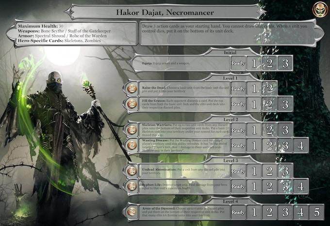 Full-art Hero Board: Hakor Dajat, Necromancer