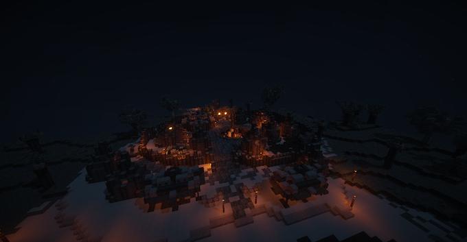 Taino Village at Night