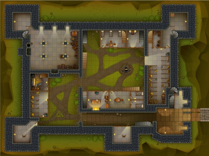 Castle Ravenstein's ground level (1 of 6 maps)