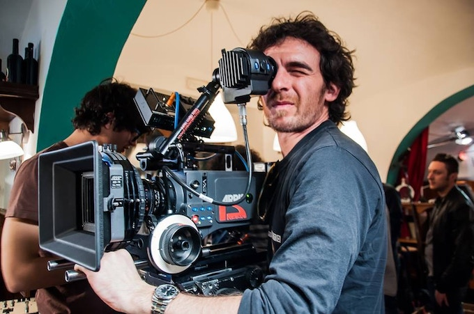 From the left: Federico Vio (Assistant Camera), Stefano Grilli (director of photography and camera op.)