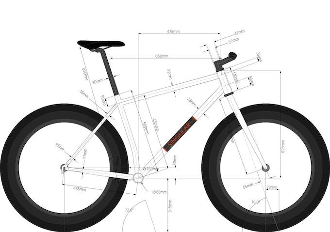 Extra large frame geometry