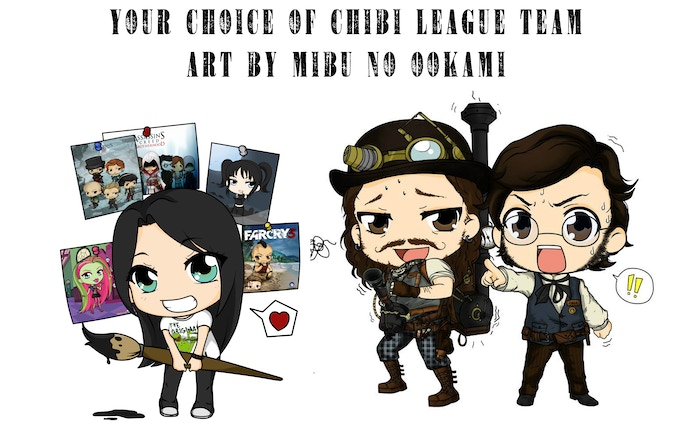 New Reward Added! At this reward level you are able to get a picture of your favorite team in chibi form from Mibu No Ookami
