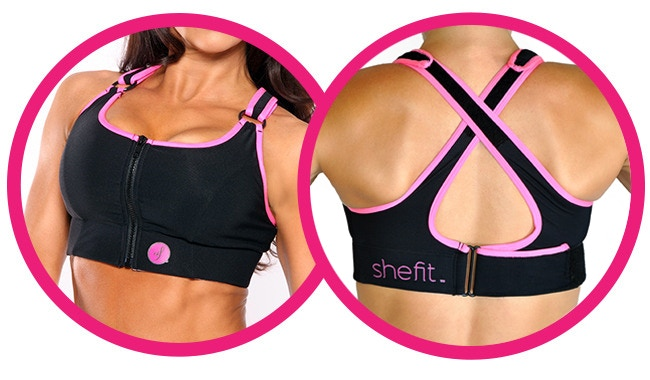feae7350a1939 SheFit Sports Bras work as hard as you do  The revolutionary sports bra  Personal custom fit allows you to LOCK   ROCK™.