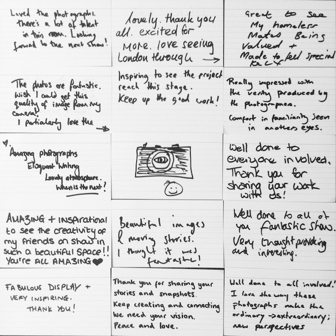 Wonderful comments and feedback from DISPOSABLE's debut exhibition in Soho. April 2013