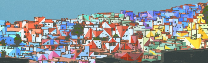 sketch for a painted hill in Vila Cruzeiro