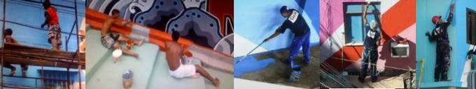 Favela Painters at work