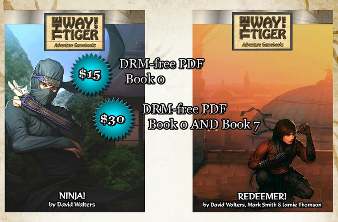 Book 0 and book 7 in DRM-free PDF format: $15 for prequel, $30 for both.