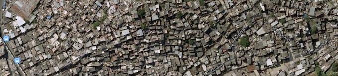 satelite image of proposed project site in Vila Cruzeiro