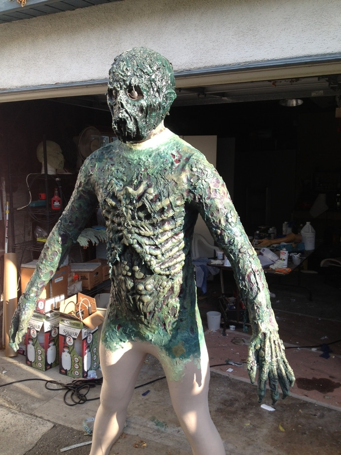 Zombie suit: chest with arms, neck and head: $2000.00