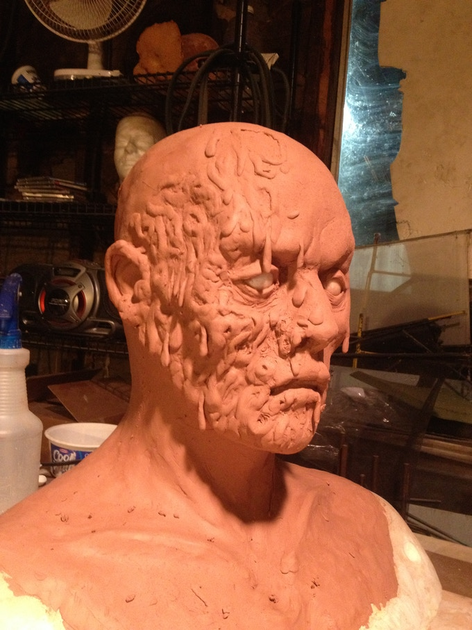 Boyfriend Zombie under construction: finished and painted mask - $1000.00