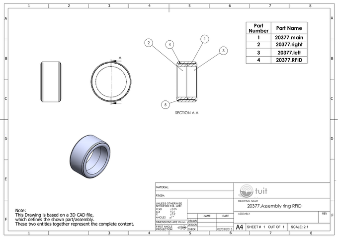Tuit Detailed Design schematics